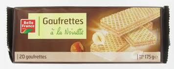 Gaufrette noisette 175G Belle France