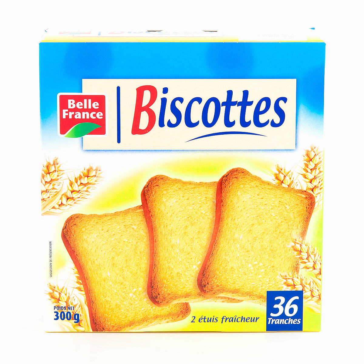 Biscottes 36 tr. froment BF 300 G