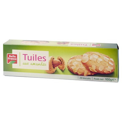 Tuiles amandes 100G, BF