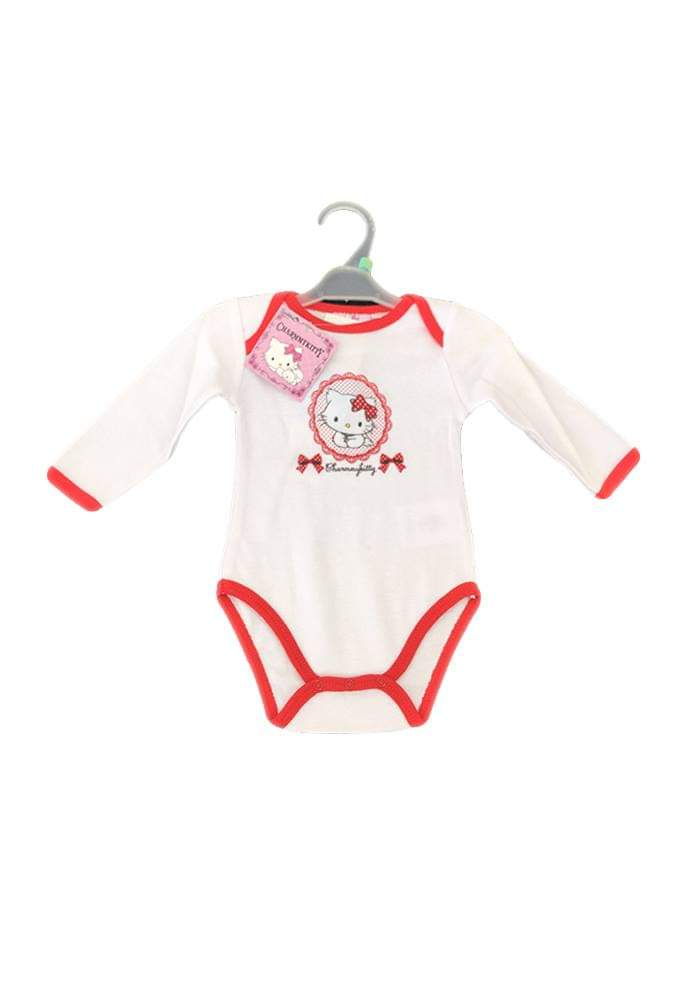 Body bébé Hello Kitty blanc et rouge